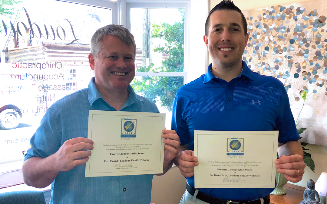 Daniel Parrish and Dr. Kent Clark each recognized as one of Loudoun's Favorites for 2018